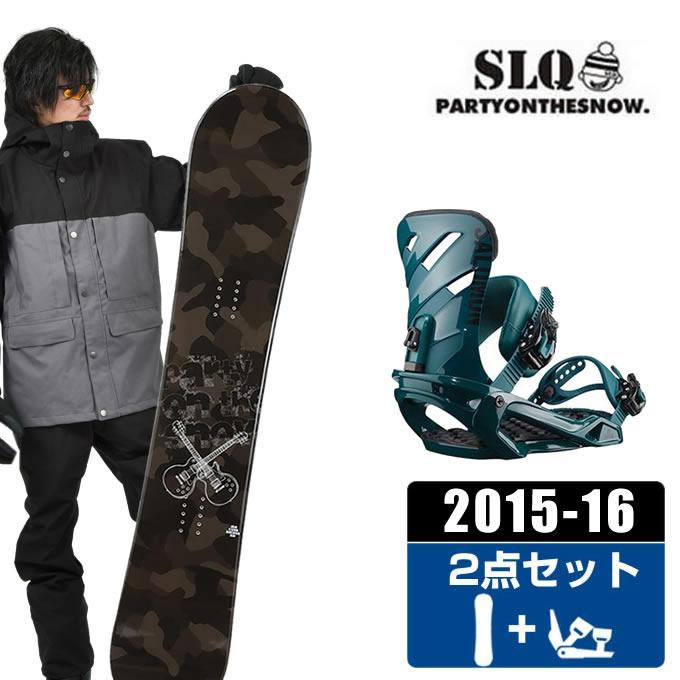 エスエルキュー SLQ スノーボード 2点セット メンズ CAMO ROCKER + RHYTHM DARK TEAL