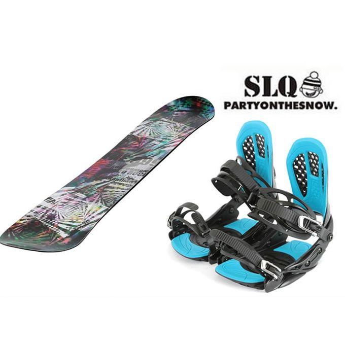 スノーボード 2点セット メンズ エスエルキュー SLQ SLYER DC+AXEL 2 ボード+ビンディング