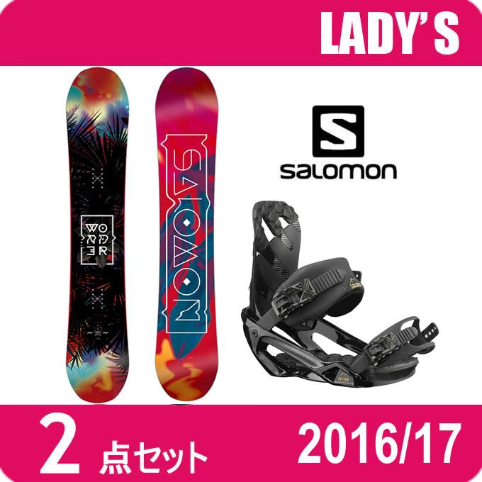 スノーボード 2点セット レディース サロモン vsalomon WONDER+RHYTHM ボード+ビンディング