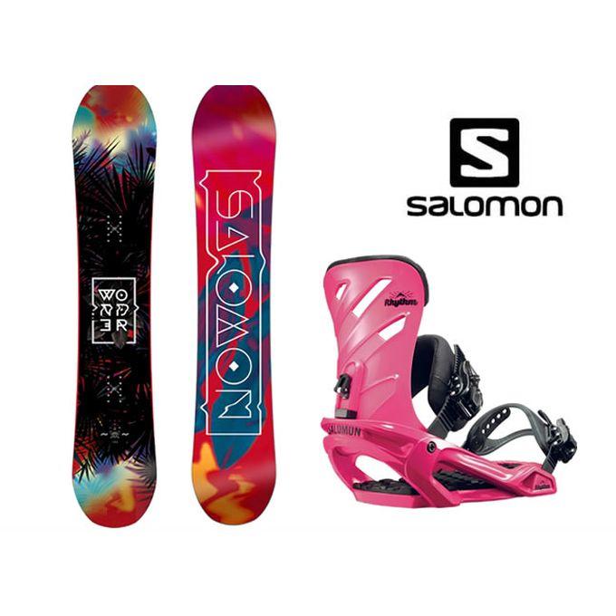 スノーボード 2点セット レディース サロモン salomon WONDER+RHYTHM ボード+ビンディング