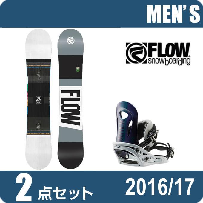 スノーボード 2点セット メンズ フロー FLOW MERCWHITE+PR NV ボード+ビンディング