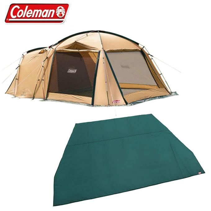 コールマン アウトドア 大型テント グランドシート タフスクリーン2ルームハウス+2ルームハウス用テントシートセット 2000031571+2000031860 Coleman