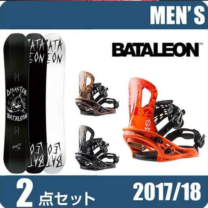 スノーボード 2点セット メンズ バタレオン BATALEON スノーボード 2点セットDISASTER+TT ボード+ビンディング