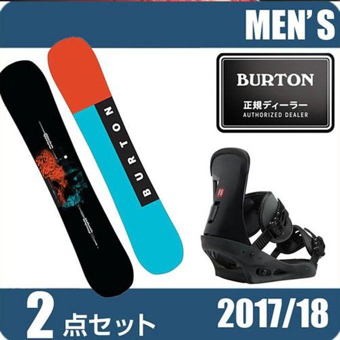 スノーボード 2点セット メンズ バートン BURTON INSTIGATOR+FREESTYLE MATTE BK ボード+ビンディング