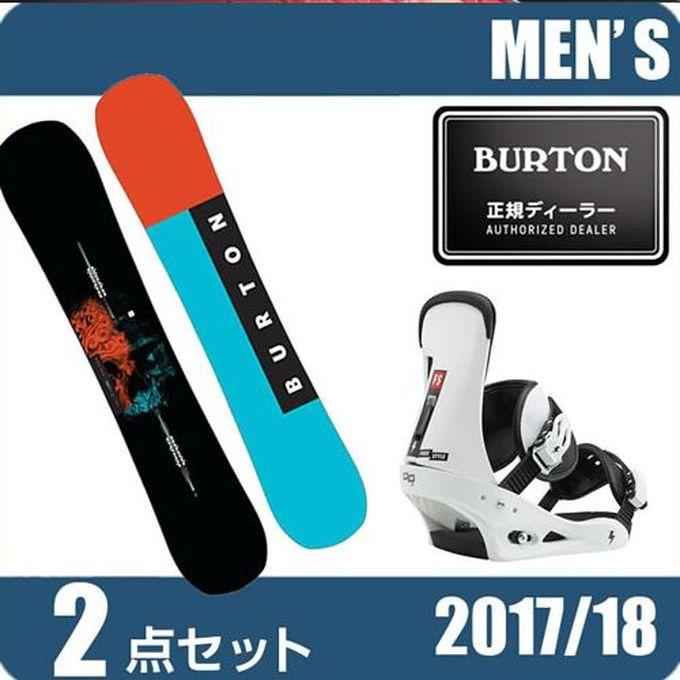 スノーボード 2点セット メンズ バートン BURTON INSTIGATOR+FREESTYLE WH/BK ボード+ビンディング
