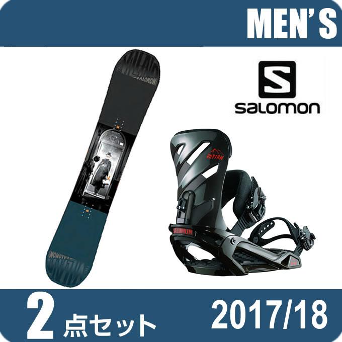 スノーボード 2点セット メンズ レディース サロモン salomon THE VILLAIN+RHYTHM AR/BK ボード+ビンディング