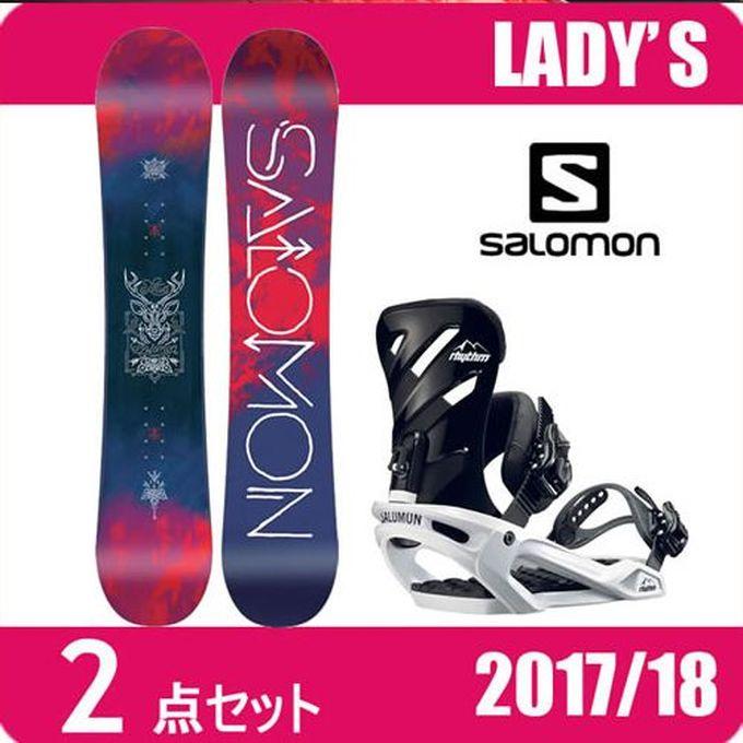 スノーボード 2点セット レディース サロモン salomon LOTUS+RHYTHM ボード+ビンディング