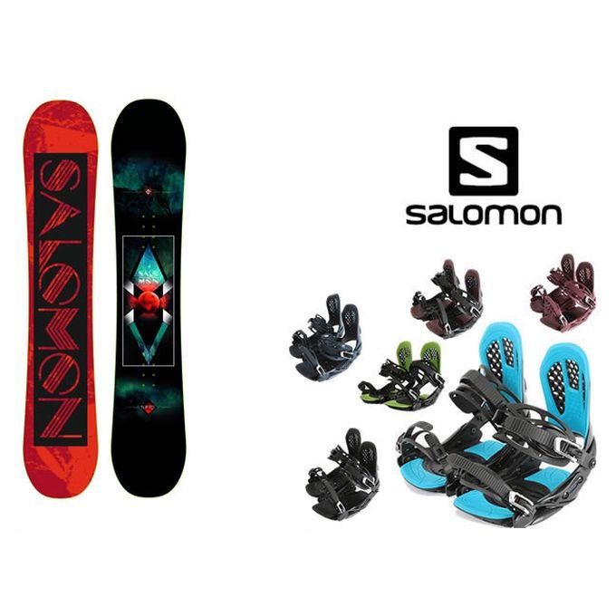 スノーボード 2点セット メンズ サロモン salomon SUBJECT MEN+AXEL 2 ボード+ビンディング