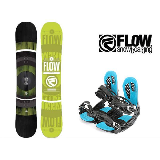 スノーボード 2点セット メンズ フロー FLOW VERT LIME LTD+AXEL 2 ボード+ビンディング