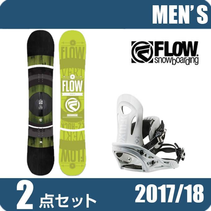 スノーボード 2点セット メンズ フロー FLOW VERT LIME LTD+PR WH ボード+ビンディング