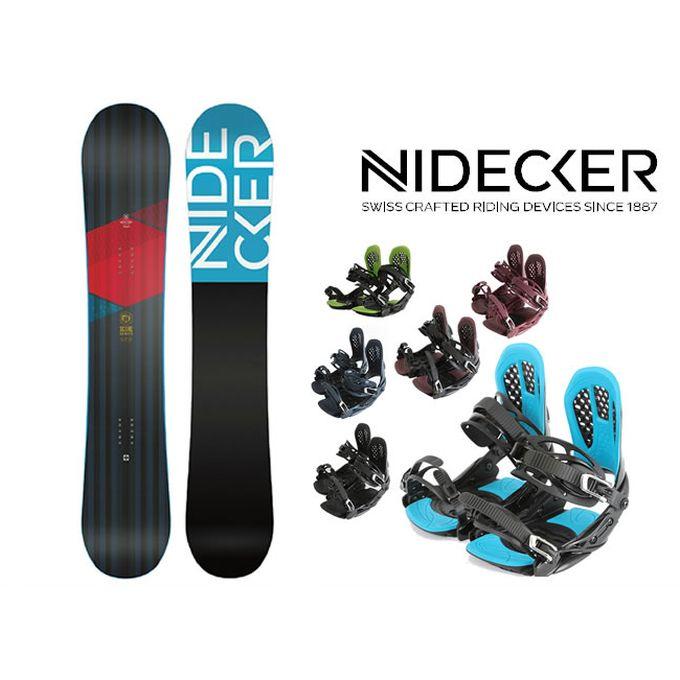 スノーボード 2点セット メンズ NIDECKER ニデッカー SCORE+AXEL 2 ボード+ビンディング