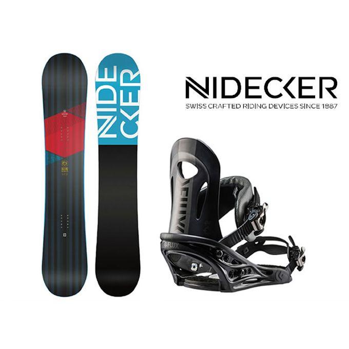スノーボード 2点セット メンズ NIDECKER ニデッカー SCORE+PR BK ボード+ビンディング