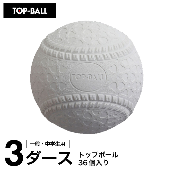 トップボール TOP BALL 野球 軟式ボール M号 トップボールM号 3ダース TOPMHD12