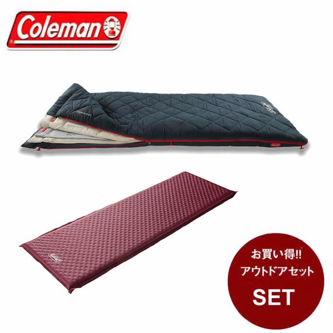 コールマン 封筒型シュラフ マルチレイヤースリーピングバッグ + キャンパーインフレーターマット シングル III 2000034777 + 2000032354 Coleman