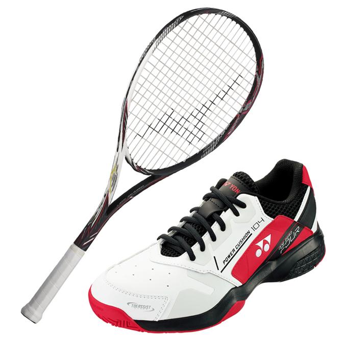 【5/5はクーポンで1000円引&エントリーかつカード利用で5倍】 ミズノ ソフトテニスラケットセット オールラウンド メンズ レディース TX900 + パワークッション104 ラケット + テニスシューズ オムニ クレー MIZUNO