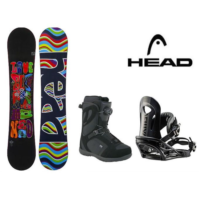スノーボード 3点セット レディース ヘッド HEAD PEARL FLOCKA H+PR BK+GALORE PRO BOA ボード+ビンディング+ブーツ
