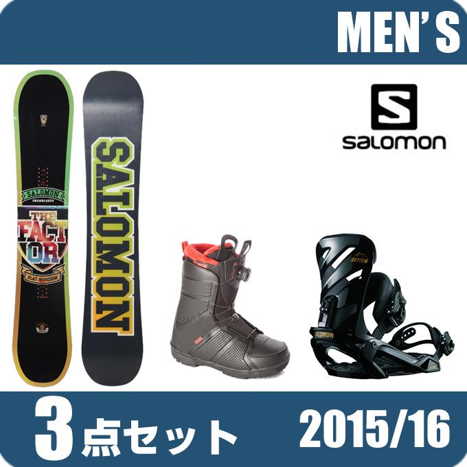 ボード+ MEN+RHYTHM スノーボード ビンディング メンズ 2点セット salomon SUBJECT サロモン