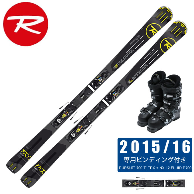 ロシニョール ROSSIGNOL スキー板 3点セット メンズ PURSUIT 700 Ti TPX + NX 12 FLUID P700 + X ACCESS 70 WIDE BB