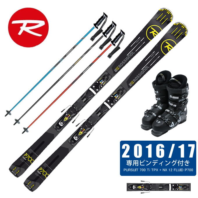 ロシニョール ROSSIGNOL スキー板 4点セット メンズ PURSUIT 700 Ti TPX + NX 12 FLUID P700 + X ACCESS 70 WIDE BB + CX-FALCON