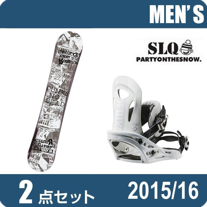 スノーボード 2点セット メンズ エスエルキュー SLQ PUNK ROCKER+PR WH ボード+ビンディング
