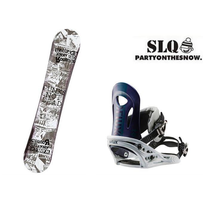 スノーボード 2点セット メンズ エスエルキュー SLQ ROSE ROCKER+PR WH ボード+ビンディング