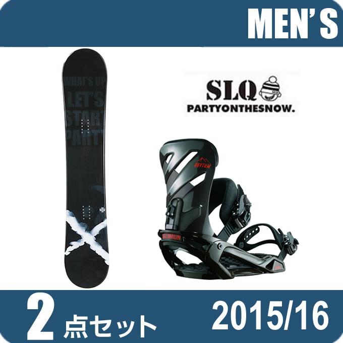 スノーボード 2点セット メンズ エスエルキュー SLQ RESPECT ROCKER+RHYTHM AR/BK ボード+ビンディング