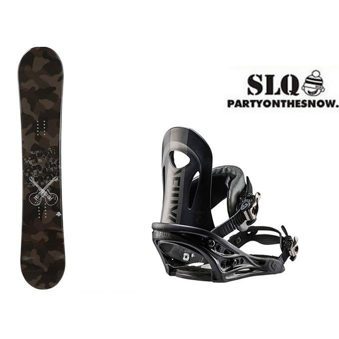スノーボード 2点セット メンズ エスエルキュー SLQ CAMO ROCKER+PR BK ボード+ビンディング