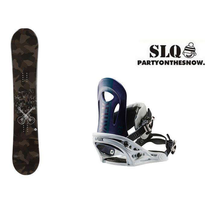 スノーボード 2点セット メンズ エスエルキュー SLQ CAMO ROCKER+PR NV ボード+ビンディング