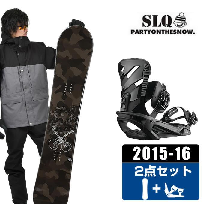 エスエルキュー SLQ スノーボード 2点セット メンズ CAMO ROCKER + RHYTHM BLACK