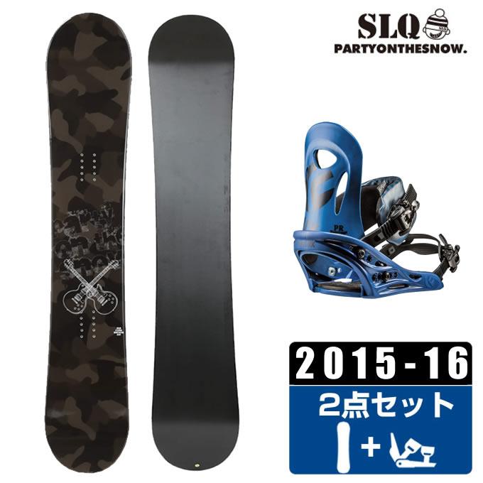エスエルキュー SLQ スノーボード 2点セット メンズ CAMO ROCKER + PR ボード+ビンディング