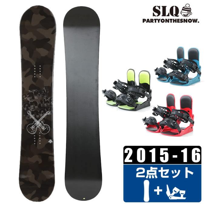 エスエルキュー SLQ スノーボード 2点セット メンズ CAMO ROCKER + KONNECT