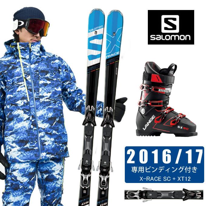 サロモン salomon スキー板 3点セット メンズ X-RACE SC + XT12 + SPEEDMACHINE 110 + SX 90 tr. black-red スキー板+ビンディング+ブーツ