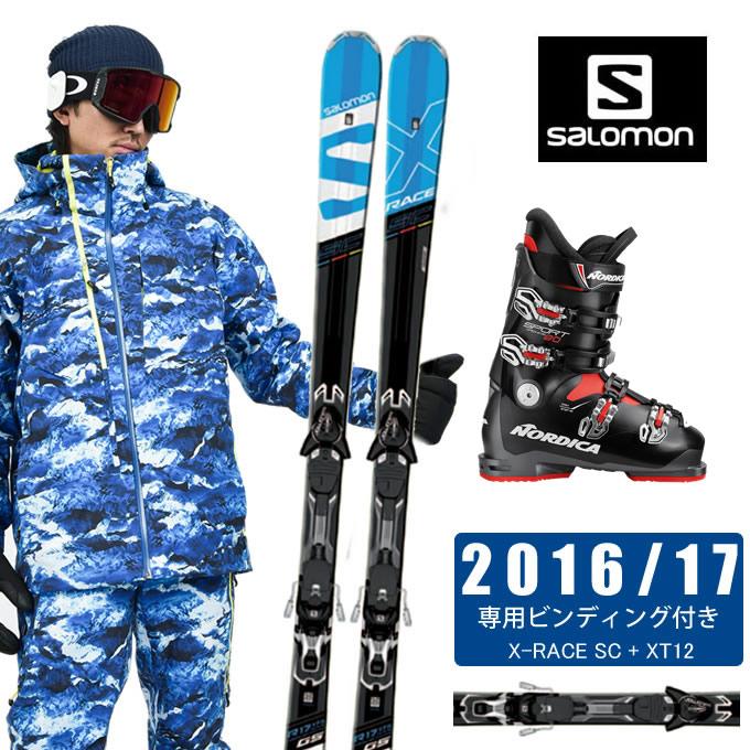 サロモン salomon スキー板 3点セット メンズ X-RACE SC + XT12 + SPEEDMACHINE 110 + SPORTMACHINE 80 ANTBKRD スキー板+ビンディング+ブーツ