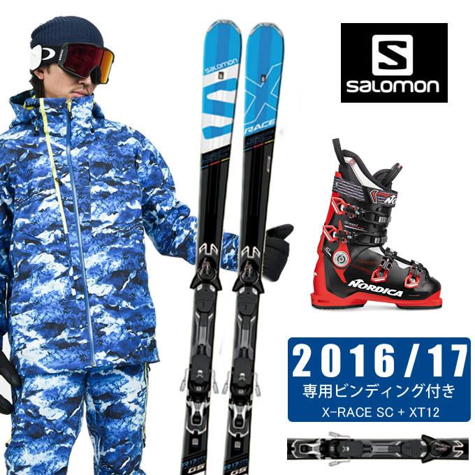 サロモン salomon スキー板 3点セット メンズ X-RACE SC + XT12 + SPEEDMACHINE 110 スキー板+ビンディング+ブーツ