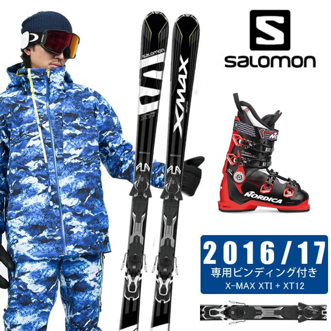 サロモン salomon スキー板 3点セット メンズ X-MAX XTI + XT12 + SPEEDMACHINE 110 スキー板+ビンディング+ブーツ