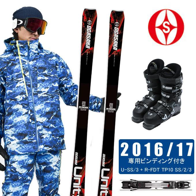 オガサカ OGASAKA スキー板 3点セット メンズ UNITY U-SS/3 + FDT TP10 SS/2/3 + X ACCESS 70 WIDE BB スキー板+ビンディング+ブーツ