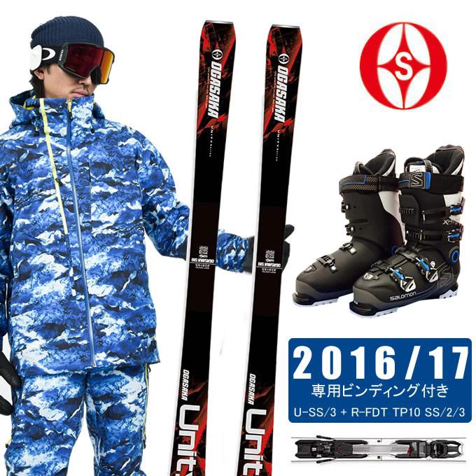 オガサカ OGASAKA スキー板 3点セット メンズ UNITY U-SS/3 + FDT TP10 SS/2/3 OGASAKA + PRO SPORTS 100 スキー板+ビンディング+ブーツ