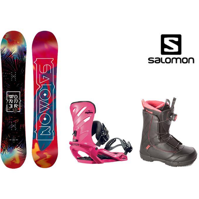 スノーボード 3点セット レディース サロモン salomon  WONDER+RHYTHM+KEA BOA ボード+ビンディング+ブーツ