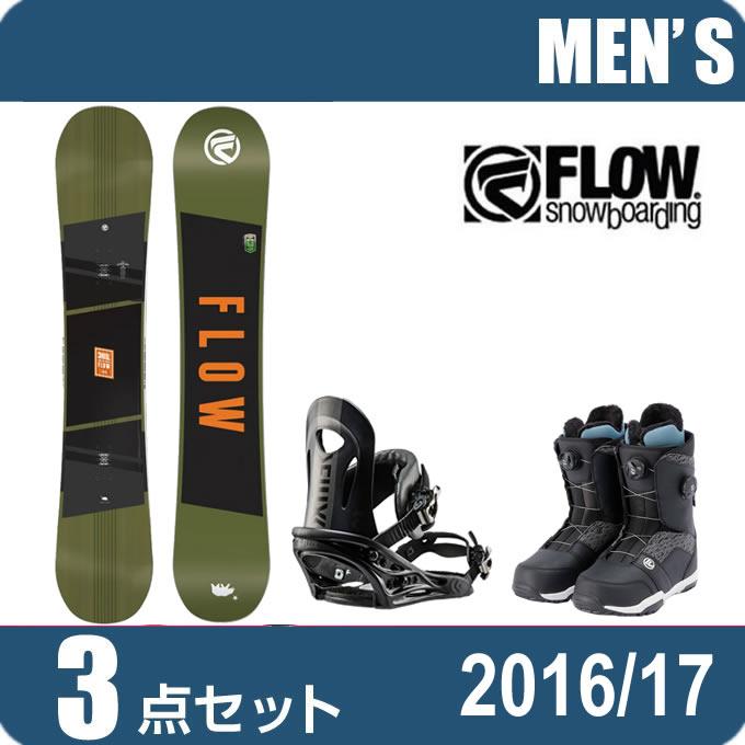 スノーボード 3点セットメンズ レディース フロー FLOW CHILL+PR BK+TRANSIT FOCUS ボード+ビンディング+ブーツ