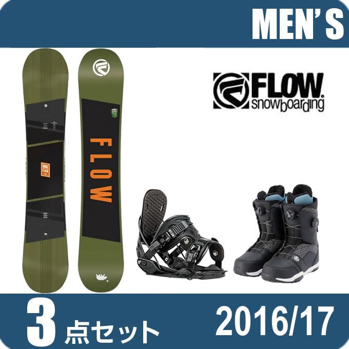 スノーボード 3点セットメンズ レディース フロー FLOW CHILL+ALPHA+TRANSIT FOCUS ボード+ビンディング+ブーツ