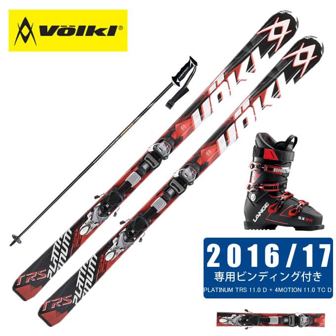 フォルクル Volkl スキー板 4点セット メンズ PLATINUM TRS 11.0 D + 4MOTION + SX 90 tr. black-red + CX-FALCON
