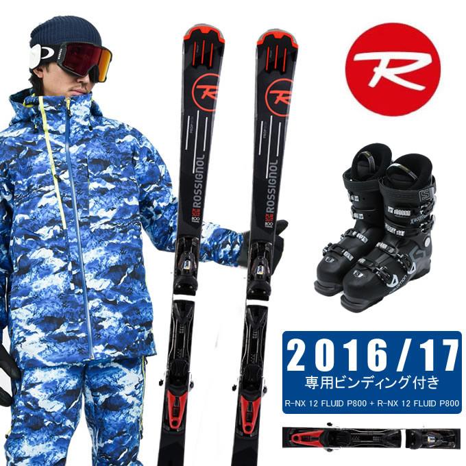 ロシニョール ROSSIGNOLスキー板 3点セット メンズ PURSUIT 800 Ti FLUID + NX 12 FLUID + X ACCESS 70 WIDE BB スキー板+ビンディング+ブーツ