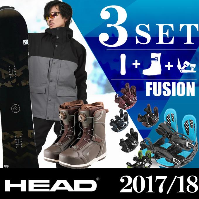 スノーボード 3点セット メンズ ヘッド HEAD FUSION FLOCKA+AXEL 2+SCOUT PRO BOA H ボード+ビンディング+ブーツ