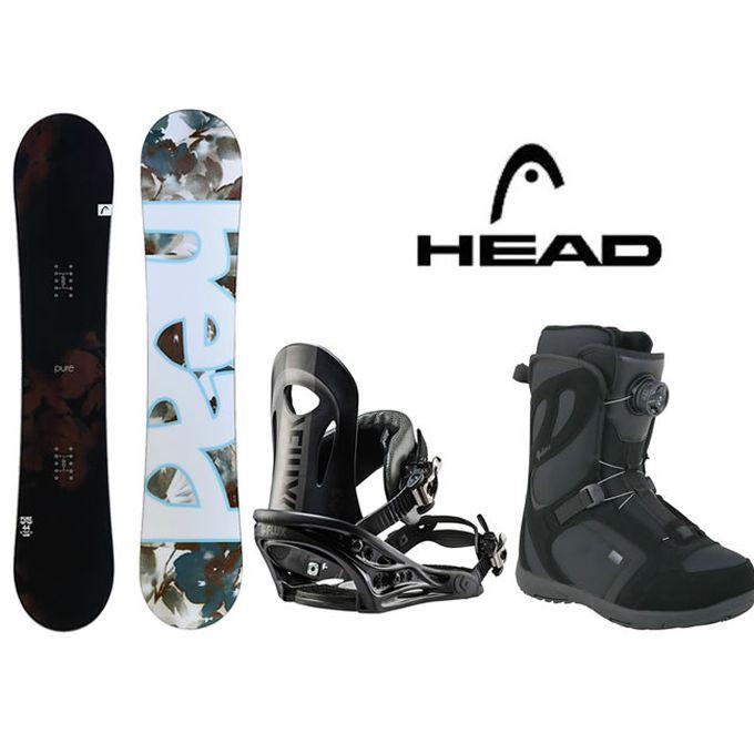 ヘッド HEAD スノーボード 3点セット レディース PURE FLOCKA+PR BK+GALORE PRO BOA ボード+ビンディング+ブーツ