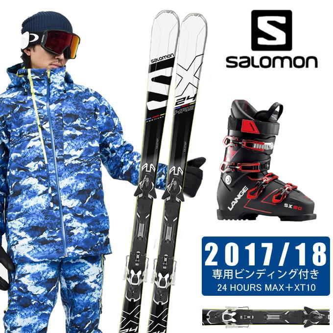 【ポイント3倍 10/4 15:00~10/11 8:59】 サロモン salomon スキー板 3点セット メンズ 24 HOURS MAX+XT10 + SX 90 tr. black-red スキー板+ビンディング+ブーツ