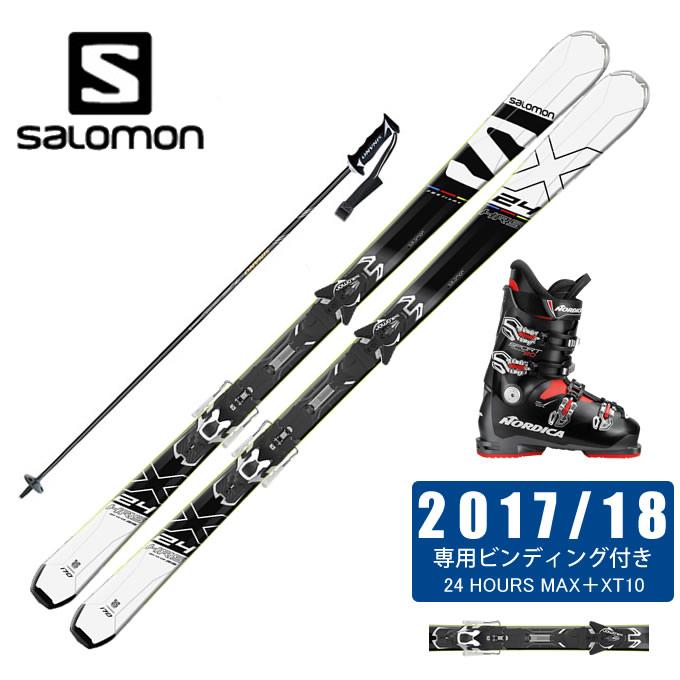 【クーポン利用で1000円引 11/18 23:59まで】 サロモン スキー板 4点セット メンズ 24 HOURS MAX +XT10-13 + SPORTMACHINE 80 + CX-FALCON salomon