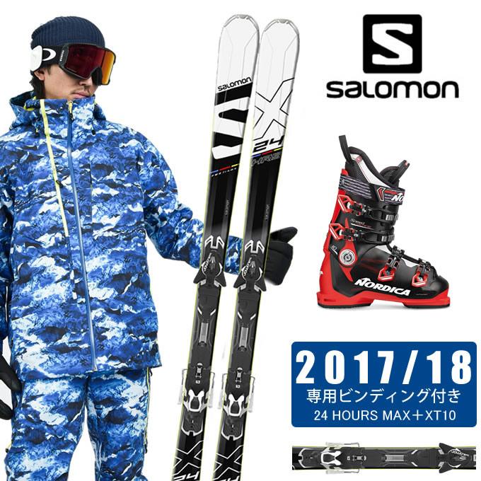 【クーポン利用で1000円引 11/18 23:59まで】 サロモン salomon スキー板 3点セット メンズ 24 HOURS MAX + XT10-13 + SPEEDMACHINE 110 スキー板+ビンディング+ブーツ