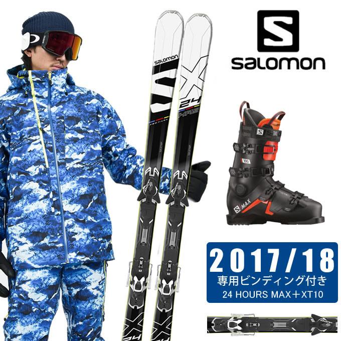 【クーポン利用で1000円引 11/18 23:59まで】 サロモン salomon スキー板 3点セット メンズ 24 HOURS MAX+XT10 + S/MAX 100 スキー板+ビンディング+ブーツ