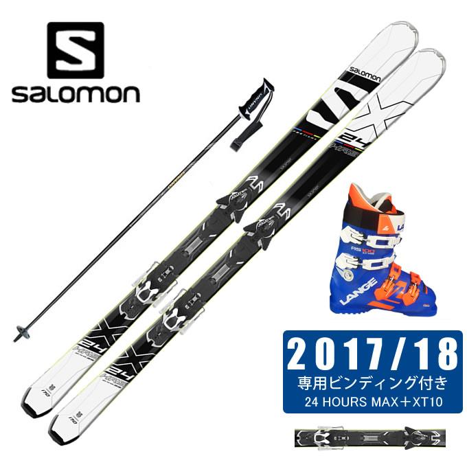 サロモン salomon スキー板 4点セット メンズ 24 HOURS MAX +XT10-13 + RS 100 S.C.WIDE + CX-FALCON