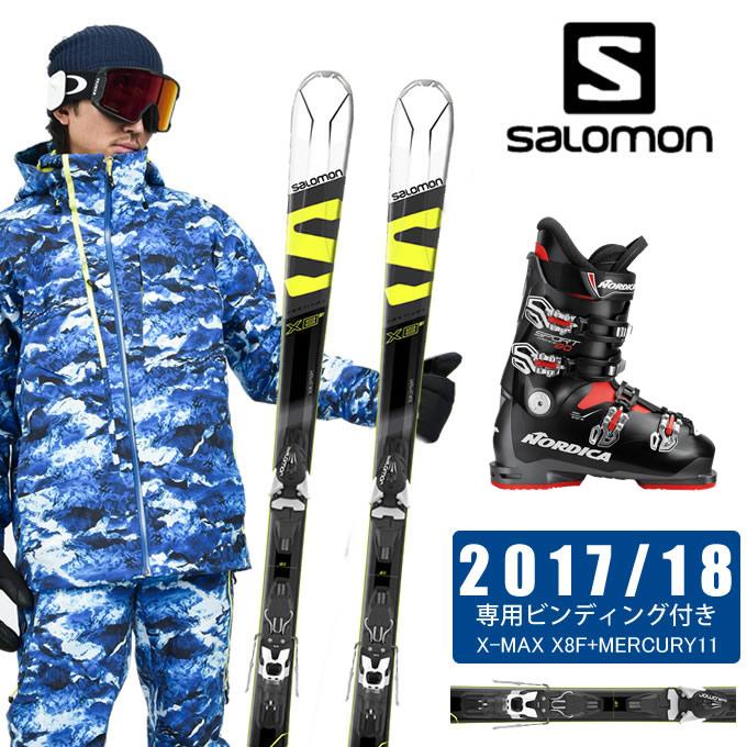 【クーポン利用で1000円引 11/18 23:59まで】 サロモン salomon スキー板 3点セット メンズ X-MAX X8F + MERCURY11 + SPORTMACHINE 80 ANTBKRD スキー板+ビンディング+ブーツ